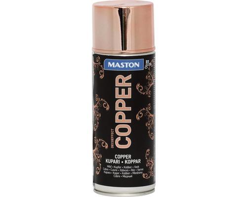Laque à pulvériser effet décoration Maston cuivre 400 ml