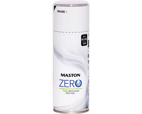 Peinture aérosol Maston Zero RAL 9016 blanc 400 ml