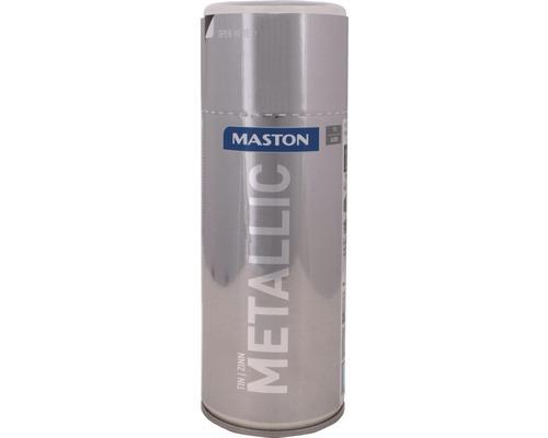 Peinture en bombe aérosol Maston metallic étain 400 ml