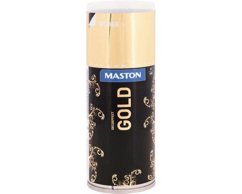 Laque à pulvériser effet déco or brillant 150ml