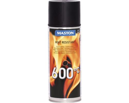 Spray laque thermique résistant à la chaleur Maston noir 400ml
