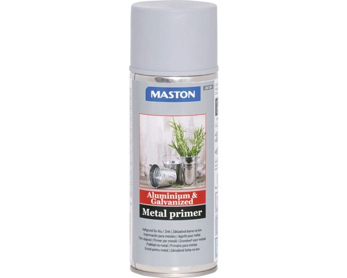 Spray d''apprêt alu/zinc Maston gris 400 ml