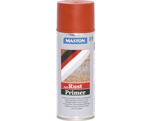 Spray d''apprêt contre la rouille Maston rouge brun 400 ml