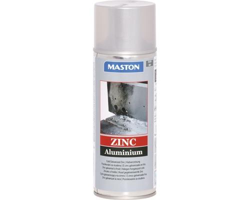 Spray de protection pour métaux zinc/aluminium Maston gris argenté 400 ml