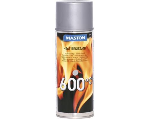 Spray laque thermique résistant à la chaleur Maston argent 400ml