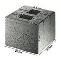 Zaun - Pfosten - Fundamentstein 20x20x17cm