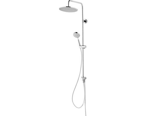 Colonne de douche avec inverseur Schulte Modern plus pomme haute extra plate carré chrome D969272 02-0