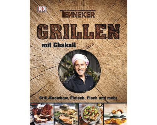 Livre de recettes barbecue Tenneker® «Grillen mit Chakall» savoir-faire cuisine au barbecue, viande, poisson et encore plus, couverture rigide