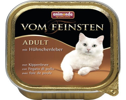 Nourriture pour chats humide, animonda d''une qualité des plus fines Adult avec foie de poulet 100g