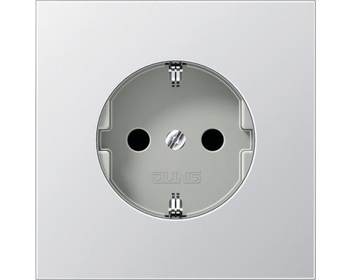 Mécanisme de prise de courant avec protection contre les contacts Jung LS990 AL1520KI aluminium