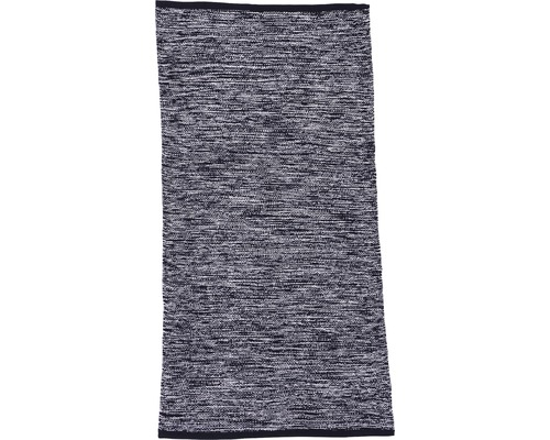 Tapis en chiffon Antalya noir 60x200 cm