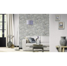 Papier peint intissé 859102 Modern Surfaces pierres gris-thumb-2