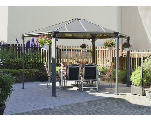 pavillon monaco 438x438 cm anthracite hornbach luxembourg. Black Bedroom Furniture Sets. Home Design Ideas