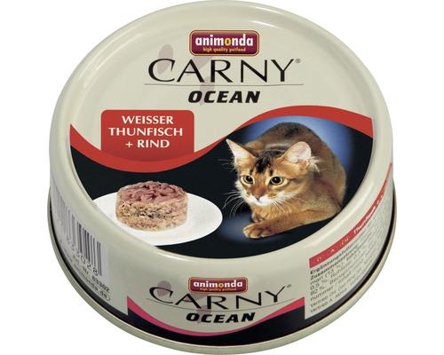 Nourriture humide pour chats, animonda Carny Ocean thon blanc + bœuf 80g