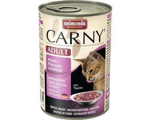 Nourriture humide pour chats, animonda Carny Adulte cocktail de viande multiple 400g