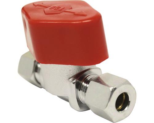 Vanne fermeture rapide 8 mm chrome pour poêle à mazout