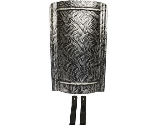Écran de cheminée martelé 90 cm noir argenté