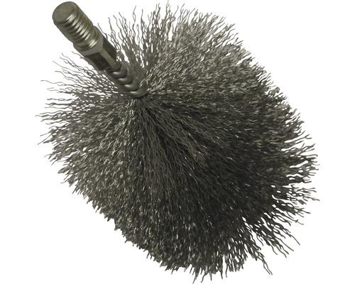 Tête de brosse en fil d''acier Ø 100 mm