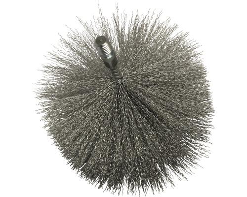 Tête de brosse en fil d''acier Ø 160 mm
