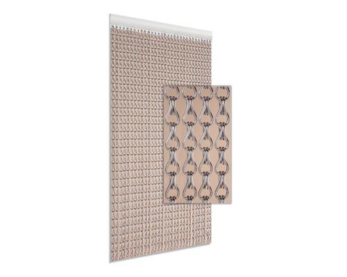 Rideau de porte alu argenté 90x210 cm
