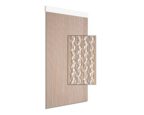 Rideau de porte Astro blanc 90x210 cm