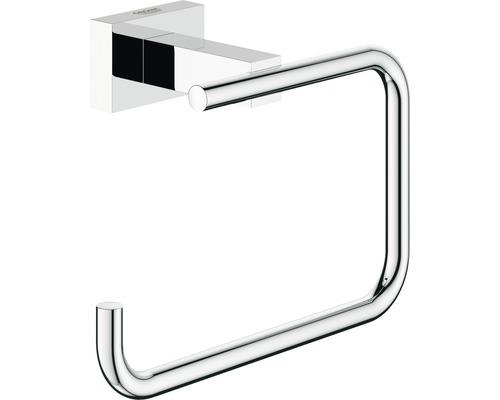 Porte-rouleau de papier toilette GROHE Essential Cube sans couvercle 40507001 chrome