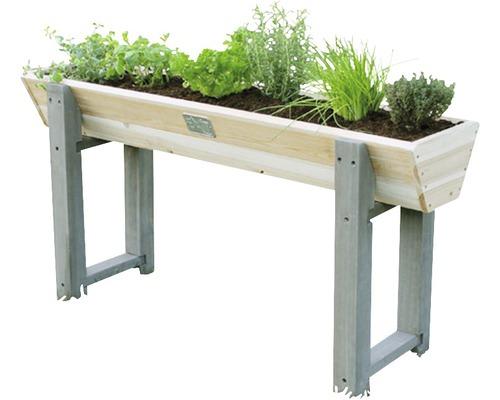 Jardinière surélevée EXIT Aksent trapèze bois 115 x 28 x 60 cm gris