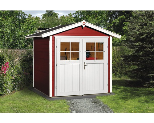 Abri de jardin weka 224 taille 1, 205x209 cm, rouge suédois ...