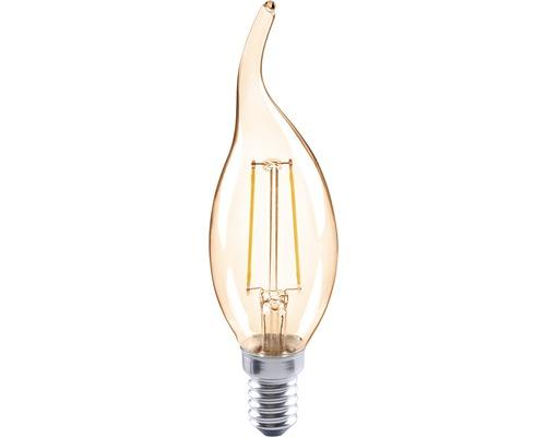 Ampoule en forme de bougie à LED FLAIR CL35C coup de vent ambre E14/2W(26W) 180lm 2000K blanc chaud