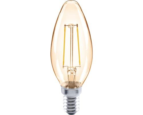 Ampoule en forme de bougie à LED FLAIR CL35C ambre E14/2W(26W) 180lm 2000K blanc chaud-0