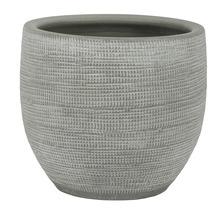 Pot de fleurs Le Havre, grès, Ø 29 H 26 cm, gris-thumb-0