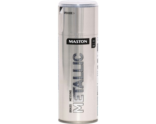 Peinture en bombe aérosol Maston metallic laiton 400 ml
