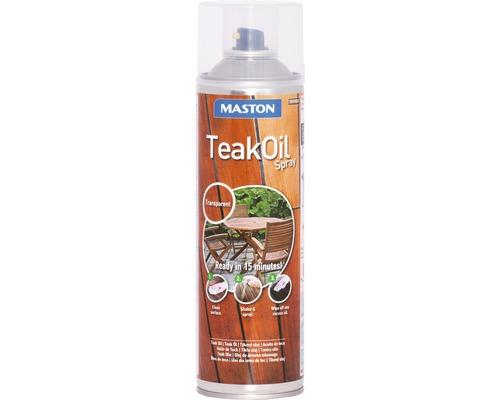 Laque à pulvériser huile de teck Maston claire incolore 500 ml