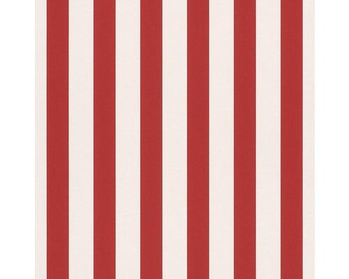 Papier peint papier 246032 Bambino XVII rayures rouge