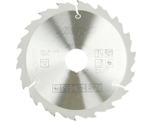 Lame de scie circulaire en métal dur HiKOKI 165x30/20 mm Z18