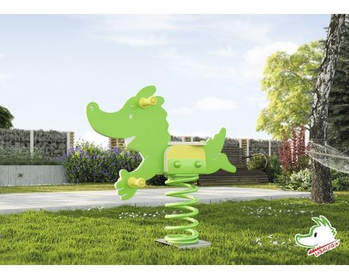 Bascule à ressorts weka Tabaluga - le dragon à ressorts en plastique vert