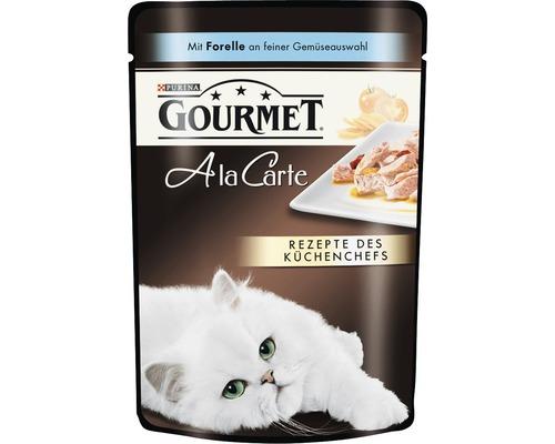Nourriture humide pour chats, Gourmet A la Carte truite et légumes 85g