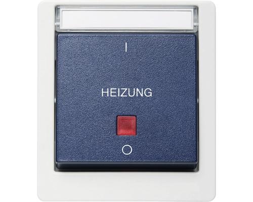 Interrupteur d'arrêt d'urgence chauffage en saillie pour pièce humide verticale gris/bleu avec champ inscriptible ROTH LANGE 56814