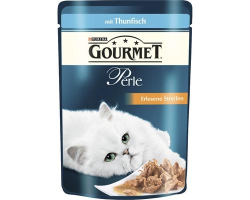 Nourriture pour chats humide, Gourmet Perle Délicieuses lamelles de thon 85g