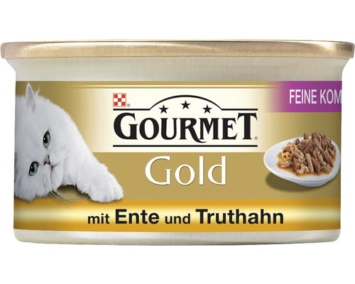 Nourriture pour chats humide, Gourmet Gold canard & dinde 85g