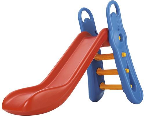 Toboggan BIG Fun-Slide plastique avec échelle rouge