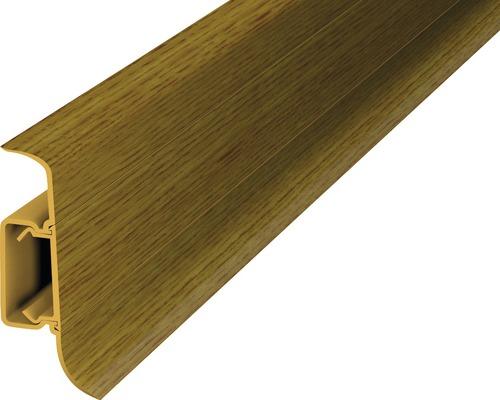 Plinthe à clipser cache-fil plastique chêne montana 50 x 2500 mm-0
