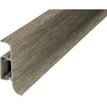 Plinthe à clipser cache-fil plastique acacia vintage 50 x 2500 mm-thumb-0