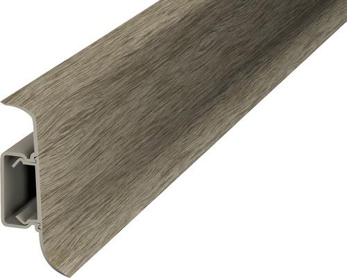 Plinthe à clipser cache-fil plastique acacia vintage 50 x 2500 mm-0