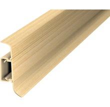 Plinthe à clipser cache-fil plastique érable 50 x 2500 mm-thumb-0