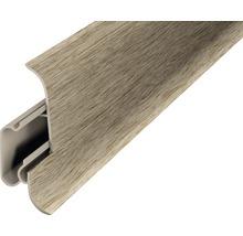 Plinthe avec guide-câble acacia vintage 60x2500 mm 2 pièces-thumb-0