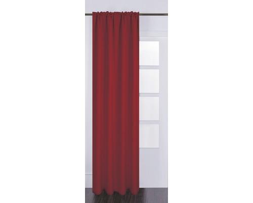 Rideau avec galon fronceur Silk off rouge 130x280 cm