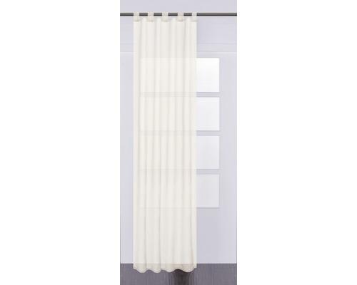 Voilage à passants Plana crème 140x245 cm