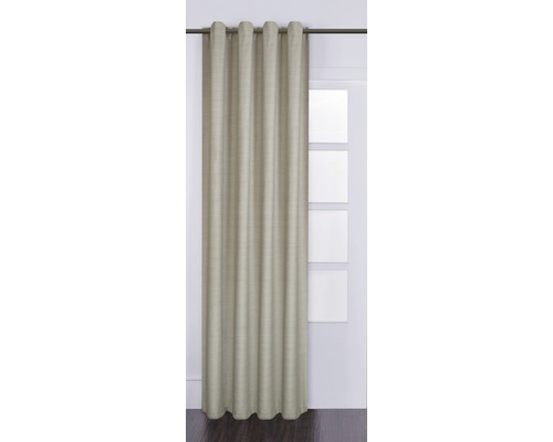 Voilage à œillets Gittytex beige 140x280 cm