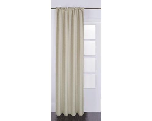 Rideau avec galon fronceur Silk off taupe 130x280 cm